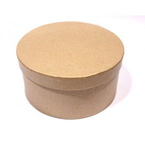 Заготовка коробка Круглая 120х60 мм, папье-маше, SCB2765003