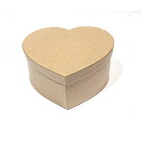 Заготовка коробка Сердце 110х125х60 мм, папье-маше, SCB2765202