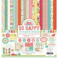 Набор бумаги So Happy Together, 12 листов + 2 листа наклеек, размер 30 х 30 см, Echo Park, SH32016