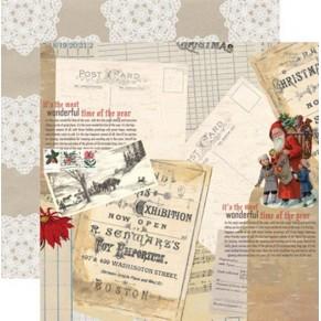 Лист картона Santa's List - Postcard, Teresa Collins, SL1003