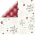 Лист картона Santa's List - Snowflakes, Teresa Collins, SL1008
