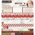 Набор бумаги Santa's List, 15x15 см, Teresa Collins, 12 листов, SL1010