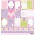 Лист односторонней бумаги 30x30 Карточки из коллекции Наша Малышка, Scrapmir, SM0100002
