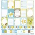 Лист односторонней бумаги 30x30 Карточки из коллекции Наш Малыш, Scrapmir, SM0200002
