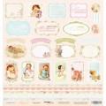 Лист односторонней бумаги 30x30 Карточки из коллекции Карамель, Scrapmir, SM0800010