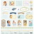 Лист односторонней бумаги 30x30 Карточки из коллекции Корица, Scrapmir, SM0900010
