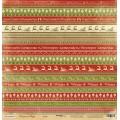 Лист односторонней бумаги 30x30 Декор из коллекции Christmas Night, Scrapmir, SM2000009