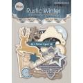 Набор высечек для скрапбукинга Rustic Winter, 53 шт, Scrapmir, SM2100014