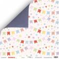 Лист двусторонней бумаги 30x30 Флажки, Scrapmir, SM2200007