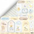 Лист двусторонней бумаги 30x30 Карточки 2 из коллекции Little Bear, Scrapmir, SM2300010
