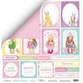 Лист двусторонней бумаги 30x30 Карточки из коллекции Sweet Girl, Scrapmir, SM2500010