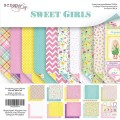 Набор двусторонней бумаги 20х20см  Sweet Girls, Scrapmir, SM2500016