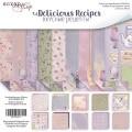 Набор двусторонней бумаги 30х30см Delicious Recipes, Scrapmir, SM2700011