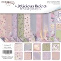 Набор двусторонней бумаги 20х20см Delicious Recipes, Scrapmir, SM2700016