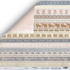 Лист двусторонней бумаги 30x30 Декор из коллекции Shabby Winter, Scrapmir, SM2800005