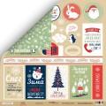 Лист двусторонней бумаги 30x30 Карточки из коллекции Hello Christmas, Scrapmir, SM2900010