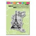 Резиновый штамп Eiffel Noel Woodblock, 6.9 x 10.8 см, Stampendous, ST1212