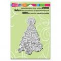 Резиновый штамп Tricycle Tree, Stampendous, ST1214