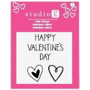 Штампы Happy Valentine's Day, Studio G, SV0010