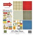 Набор бумаги Grandpa's Tool Shed Mini Theme, 6 листов, 1 лист наклеек, 30х30 см, Echo Park, SW2405