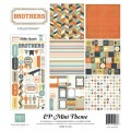 Набор бумаги Brothers Mini Theme, 30х30 см, 6 лист   1 лист наклеек, Echo Park, SW2705