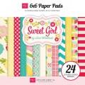 Набор бумаги Sweet Girl, Echo Park, 15х15 см, 12 листов, SWG43023