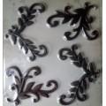Металлический декор для скрапбукинга Веточки, 4 шт, SB2552