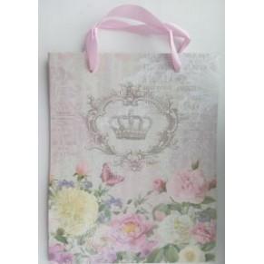 Подарочный пакет Royal, с глиттером