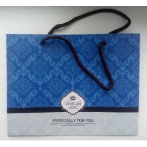 Подарочный пакет с орнаментом, голубой