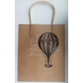 Подарочный крафтовый пакет с воздушным шаром