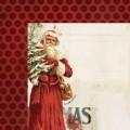 Лист картона Vintage Christmas-Santa, My Mind's Eye, VC1001