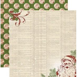Лист картона Vintage Christmas-Dictionary, My Mind's Eye, VC1008