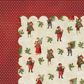 Лист картона Vintage Christmas-Tree Trimmer, My Mind's Eye, VC1009