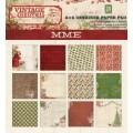 Набор бумаги Vintage Christmas 15 x 15 см, MME, 12 листов, VC1010