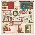 Высечки Vintage Christmas Chipboard Elements, MME, VC1012