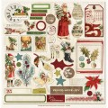 Наклейки Vintage Christmas, MME, VC1013