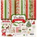 Набор бумаги Very Merry Christmas, 30х30 см,12 листов + 2 листа наклеек, Echo Park, VMC34016