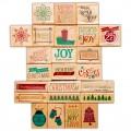 Набор резиновых штампов Christmas, 24 штампа, Hampton Art, VW0050