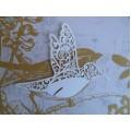 Вырубка Птичка, цвет белый, W0020055