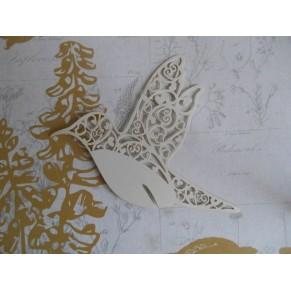 Вырубка Птичка, цвет молочный, W0020056