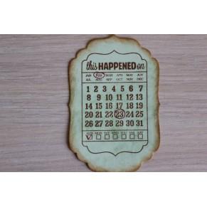 Вырубка Календарь, W00205