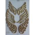 Набор декора Wood Flourishes-Wings, Китай, WF0002
