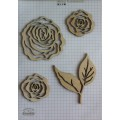 Набор декора Wood Flourishes-Roses, Китай, WF0007