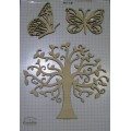 Набор декора Wood Flourishes-Tree and Butterflies, Китай, WF0013