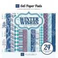 Набор бумаги Winter Wishes, 15 x 15 см, 12 листов, Echo Park, WW39023