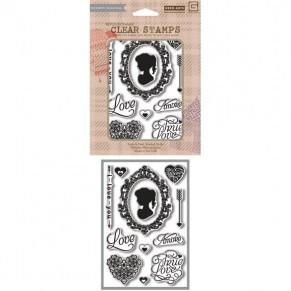 Акриловые штампы True Love, Hero Arts, 12 шт, размер 13,5 х 19 см., CL654