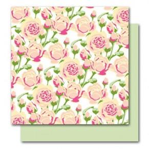 Бумага Botanique, Rose Glitter, American Crafts, размер 30х30 см, ac004