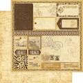 Двухсторонний лист бумаги Exotic Destination, Tropical Travelogue, 30x30, Graphic 45, g0100