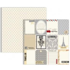 Двухсторонний текстурный картон, 30х30 см, №10