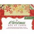 Заготовки для открыток с конвертом, 10 штук, Christmas, DCWV